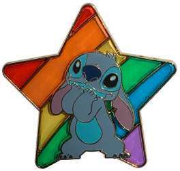 Stitch Rainbow Pride Pin