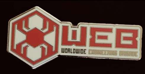 DCA - Avengers Campus - Stark Industries & WEB Logo Set - WEB Logo ONLY