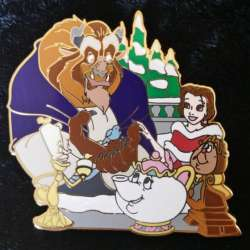 Beast, Belle, Lumiere, Mrs. Potts and Cogsworth