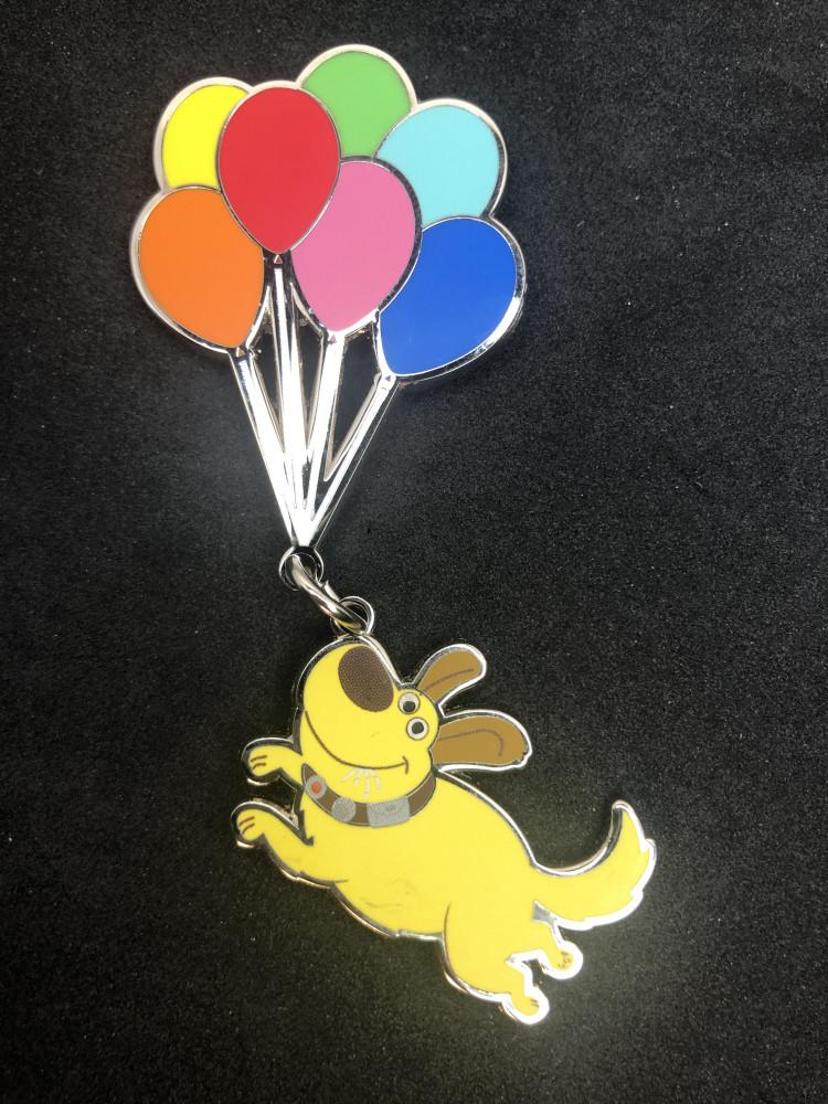 Dug with balloons
