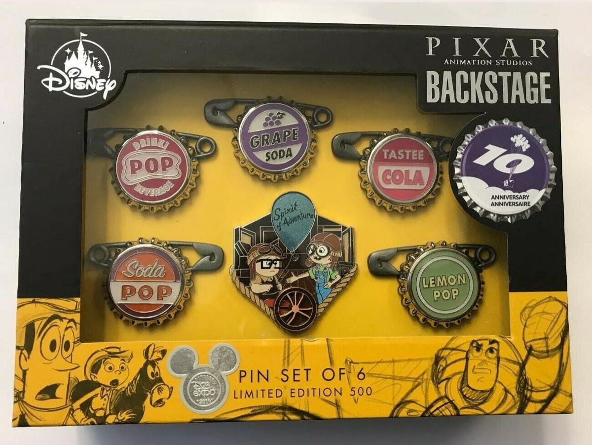 Pixar Backstage - 10th Anniversary Up Bottle Cap Set