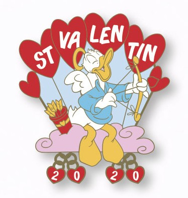 Donald Duck as Cupid