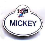 Mickey Name Tag