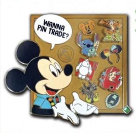 Wanna Pin Trade? Mickey Pin Collecting pin